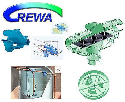 Zisternenfilter Set REWA F-100XL 110mm mit 3P Siphon und beruhigtem Zulauf