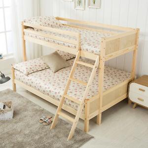 3ft Single 4ft Natural Pine Wood Bunk Bed Triple Sleepers Bedroom