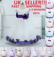 Girls Party Dress Flower Bridesmaid Princess Prom Wedding Christening Communion