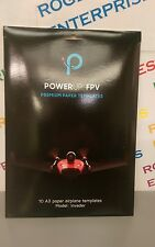 10 x Genuine PowerUp FPV Airplane Drone Premium A3 Paper Templates Invader Model