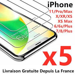 Verre Trempé Vitre Film Protection Écran iPhone 6 7 8 X XR XS 11 PRO MAX 12 Mini