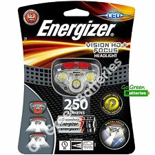 Energizer Vision HD+ Focus LED Bright Head torch lamp light 250 Lumens camping