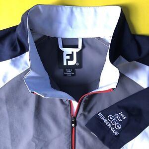 Footjoy-FJ-Homme-Gris-Quart-Fermeture-Eclair-Performance-Golf-Pull-Sz-XL-s-s-DCC-Guess