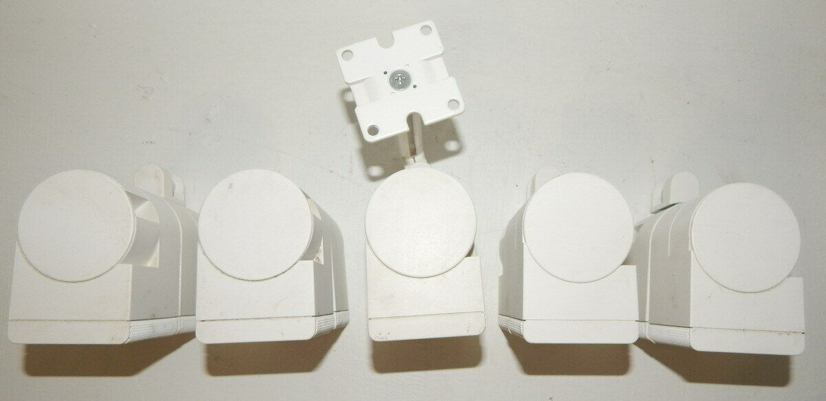 Bose jewel double cube speakers  set of 5 tested working with 3 wiressome mounts
