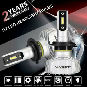 novsight paar h7 led auto scheinwerfer birnen leuchten kit 50w 6500k wei lampen ebay. Black Bedroom Furniture Sets. Home Design Ideas