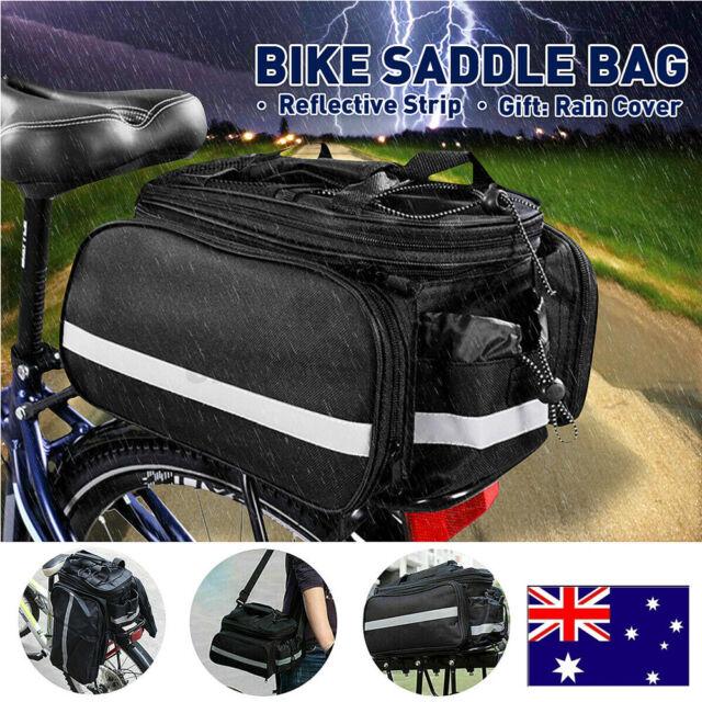Mount Bicycle Rear Seat Storage Trunk Bag Bike Pannier Rack Waterproof Handbag