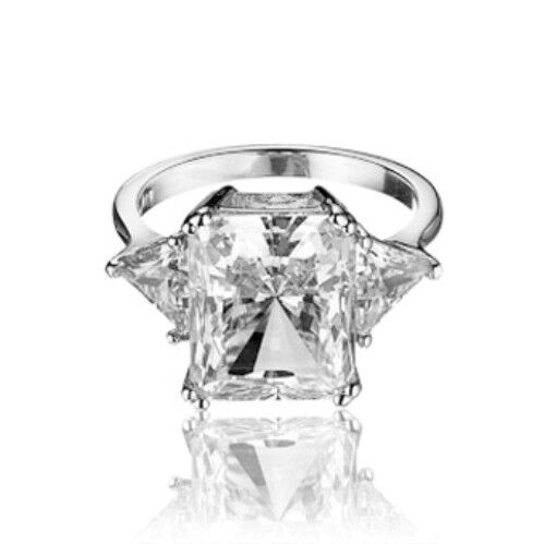 2.40 Tcw Radiant Cut Diamond 14k White Gold Solitaire Engagement Ring Fashion Jewelry