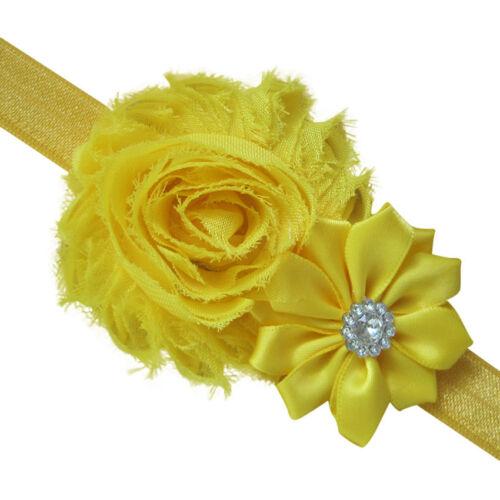 5PCS Elastic Newborn Baby Headdress Girl Chiffon Hair Band Flower Headband