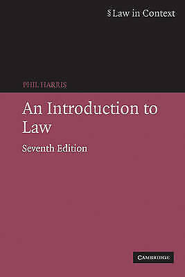 (Good)-An Introduction to Law (Law in Context) (Paperback)-Harris, Phil-05216979