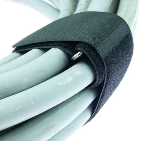 10 x Klett Kabelbinder 800 x 50 mm schwarz Kabelklettband Kabelklett Verschluss