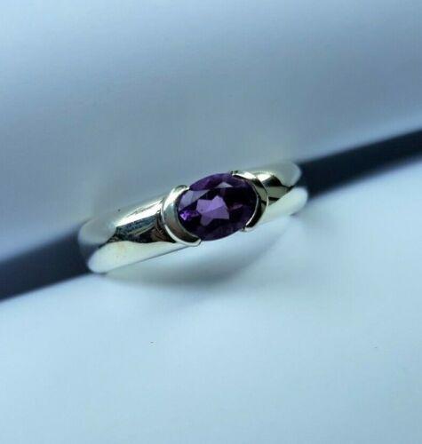 Sterling Silver Amethyst AAA Grade Heavy Dress Ring Sizes J K L1//2 N O P S
