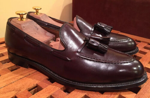 Alden Brown Tassel Loafer Shoes 10 D Like Alden 66