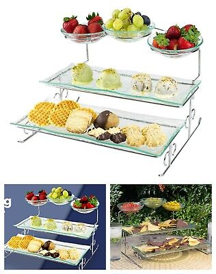 Tray Stand 3 Tier Serving Platter Large