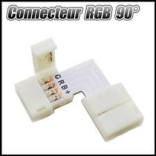 Connecteur angle droit sans soudure pour bandeau LED 5050 - ruban LED RGB 90° L