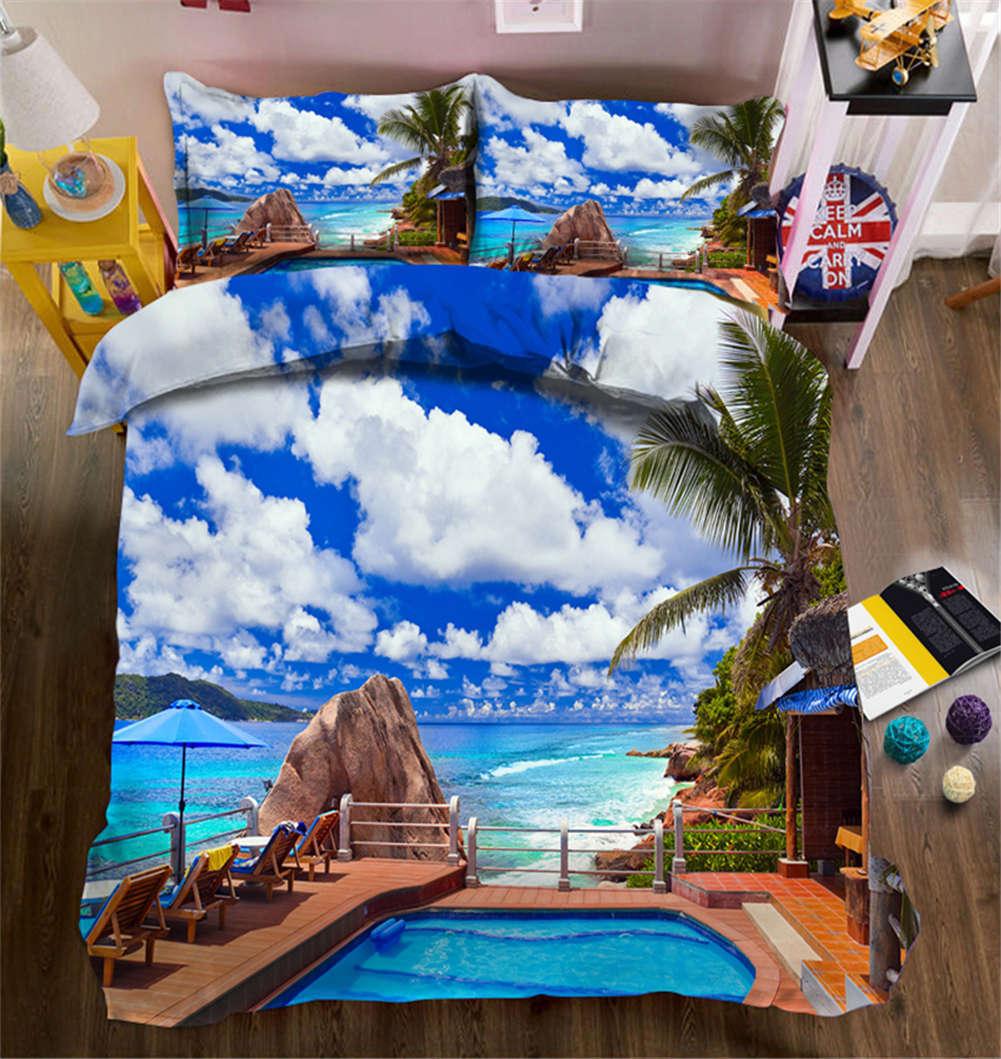 Enjoyable Alameda 3D Druckening Duvet Quilt Will Startseites Pillow Case Bettding Sets