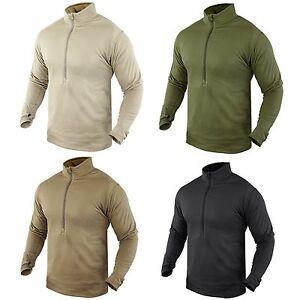 Condor-603-Thermal-Fleece-BASE-II-Zip-Pullover-Operator-Tactical-Jacket-Shirt