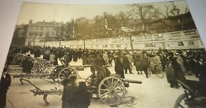 Rare-Antique-German-World-War-I-Captured-Aircraft-Real-Photo-Postcard-RPPC-WWI