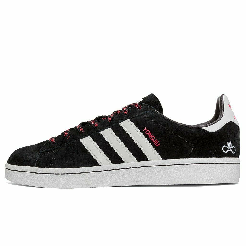 Adidas Originals Campus 'yongjiu' Forever Bicycle Negro y reflectante (UK 8) Nuevo Y En Caja
