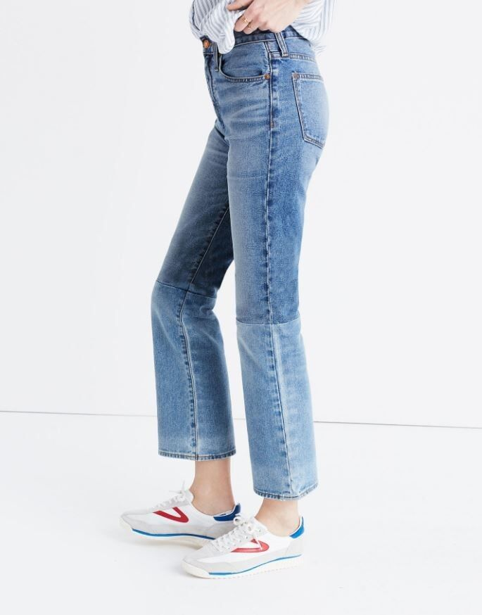 3bbf33068 Madewell Retro Crop Bootcut Jeans Two-Tone - NWT Sz 29 Edition ...