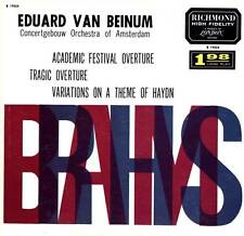 LP BRAHMS EDUARD VAN BEINUM ACADEMIC FESTIVAL OVERTURE TRAGIC OVERTURE