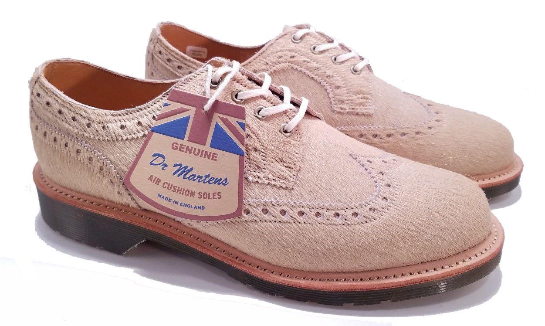 Dr. Martens MIE England Beverley Beige Metallic 3989 Brogue chaussures UK6 US8