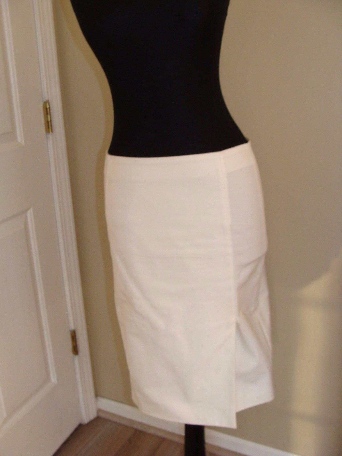 Emporio Armani White Pencil Skirt Knee Size 40