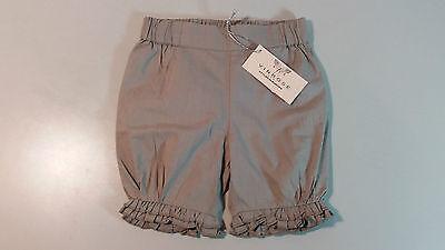 VINROSE Baby Hose Kinder Pumphose Shorts Gr 56-74 taupe Baumwolle Rüschen NEU
