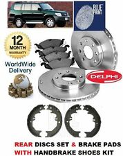 FOR TOYOTA PRADO COLORADO 1996-2009 REAR BRAKE DISC SET & PAD & HAND BRAKE SHOES