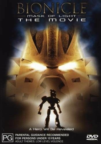 BIONICLE - MASK OF LIGHT - THE MOVIE (DVD, 2003) VERY GOOD CONDITION