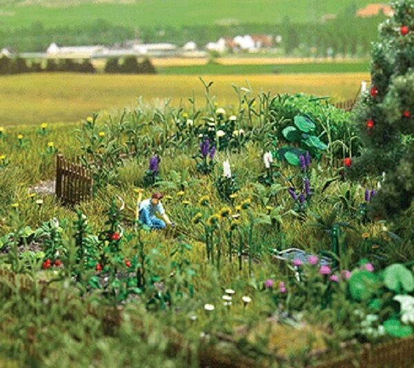 HO 1 87 Busch Scenery Overgrown Garden Detail Kit # 1223 for Diorama ...