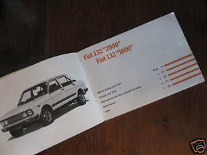 Fiat 132 Owner Handbook English Language 1977 Free Post Ebay