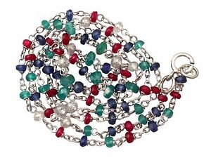 Diamond-Sapphire-Ruby-Emerald-and-18-ct-White-Gold-Necklace-Contemporary-20