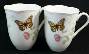 Lenox China BUTTERFLY MEADOW MONARCH 2 Mugs GREAT CONDITION
