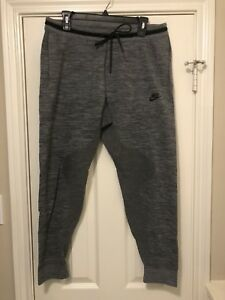 02eb2b725b0dc New L Nike Tech Knit Jogger Pants Carbon Heather Grey NSW Men Fleece ...