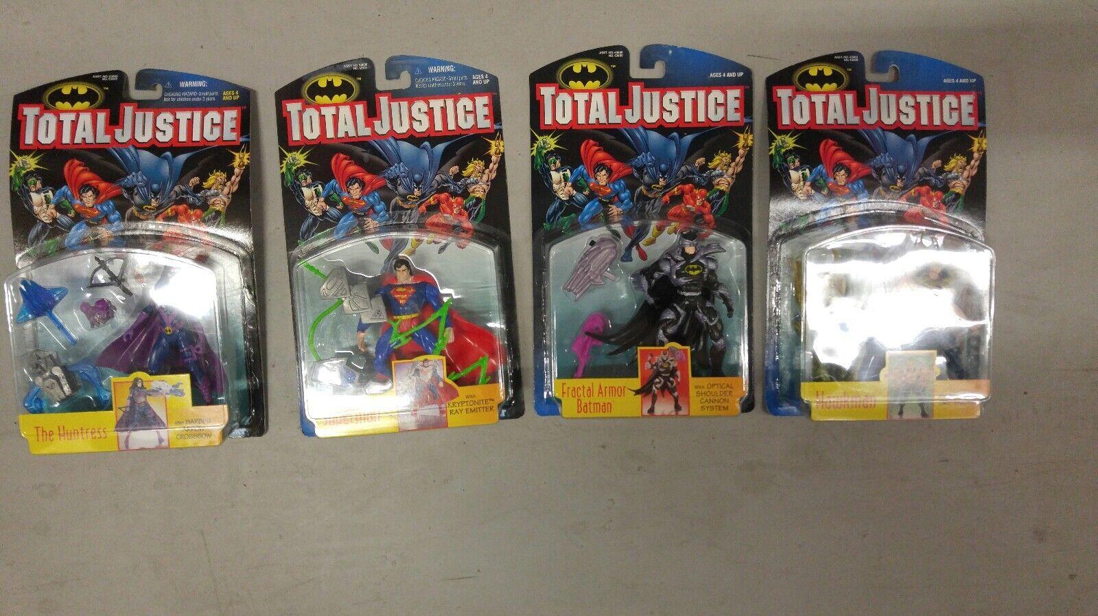 1997 Kenner DC Comics Batman Total Justice League Lot of 4 Action Figures