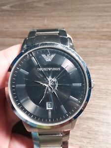 high quality on wholesale coupon codes Details about Mens Emporio Armani AR2457 Stainless Steel Date Black Dial  43mm Wrist Watch