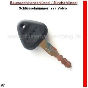 #18 Nr 202 VOLVO Baumaschinen Schlüssel Minibagger Radlader Zündschlüssel