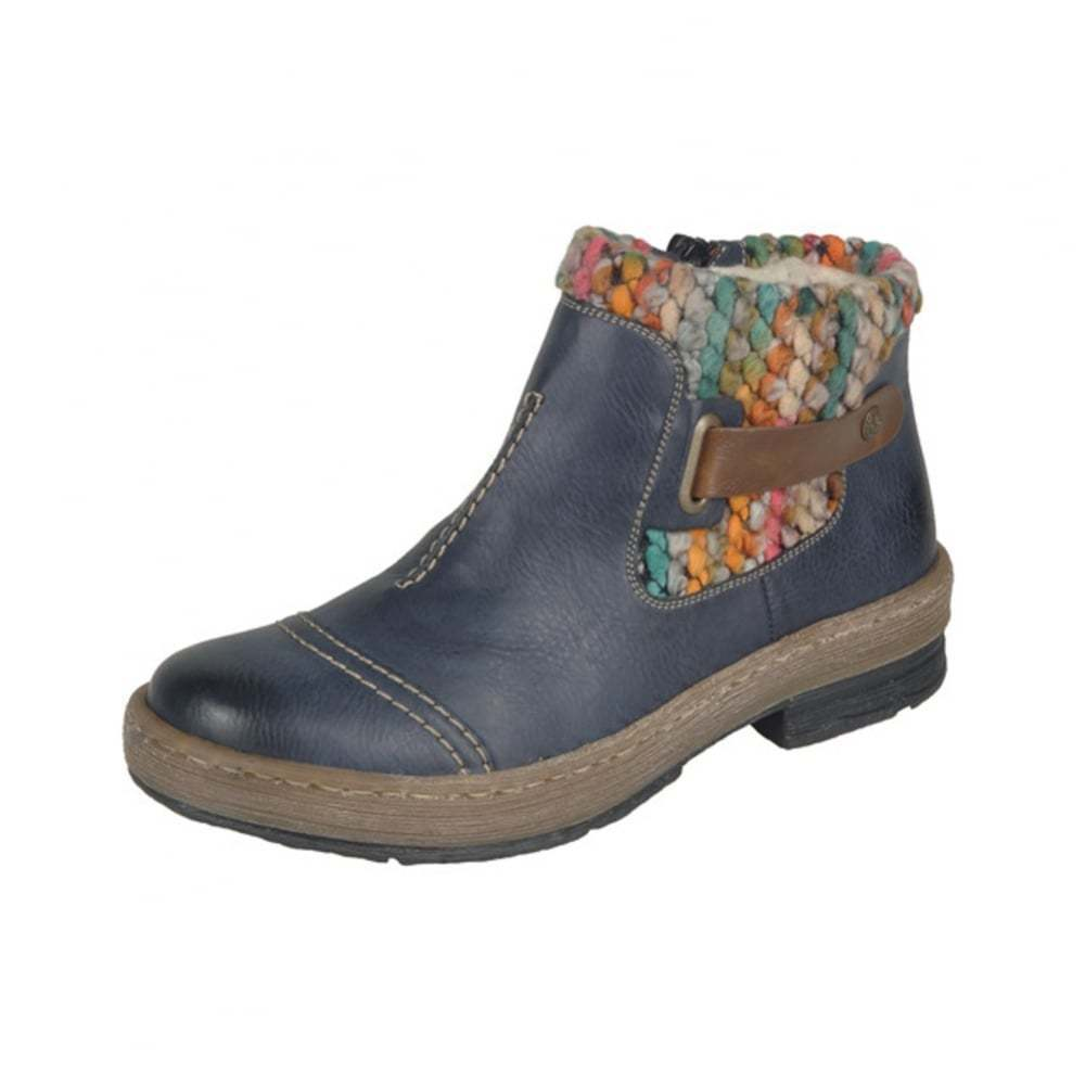 Z6784-14 LADIES ANKLE RIEKER Blau ANKLE LADIES BOOT 877743