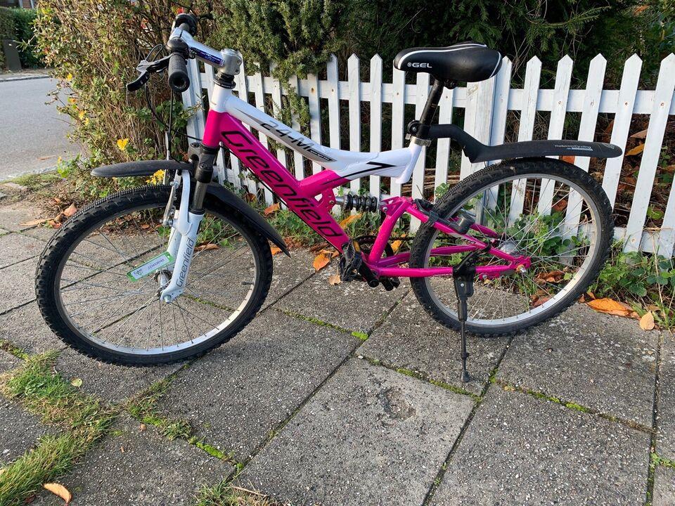 Unisex børnecykel, mountainbike, Greenfield