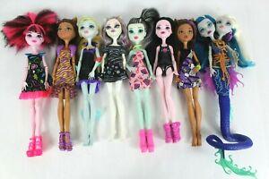 Monster-High-Lot-8-Dolls-Frankie-Clawdeen-Draculaura-Laguna-Catrine-Peri-Pearl