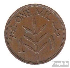 KüHn Palästina Km-nr. : 1 1941 Sehr Schön Bronze 1941 1 Mil Pflanze Der Preis Bleibt Stabil