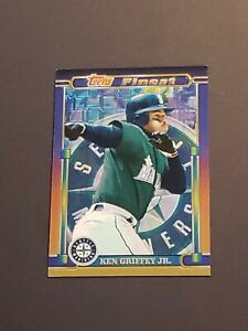 Ken-Griffey-Jr-1995-Topps-Finest-Foil-Blank-Back-Seattle-Mariners-HOF-Rare-1-1