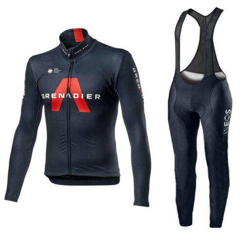 Details about  /Mens Ineos Cycling long sleeve jersey cycling jersey and bib pants cycling pants