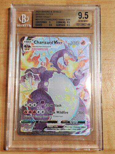 Charizard VMAX BGS 9.5 GEM MNT Pokemon Shining Fates SV107 Shiny Vault Holo Rare
