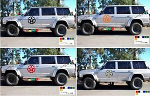 Decals Sticker For Nissan Patrol Y60 Snorkel Lift Leaf