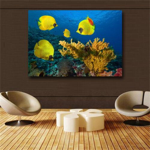 Large art prints Home Decor Canvas Painting Wall Art Beautiful ocean world