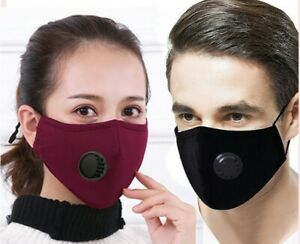 Washable Face Mask With Respirator And Filters Ebay