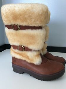 Once Waterproof Worn 36 Brown 3 Size Sheepkin 5 Leather Uk Eu Ugg Boots qHwATwR