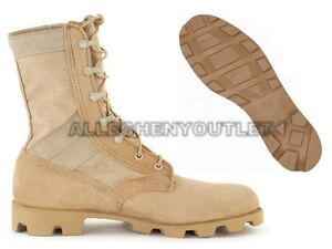 US-Military-COMBAT-JUNGLE-BOOTS-Panama-SPEEDLACE-Hot-Weather-Desert-Tan-NEW-13-N