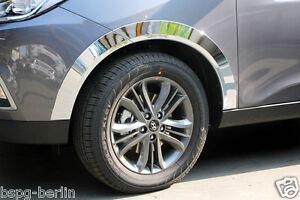 Accessoires-pour-Hyundai-IX35-10-13-CHROME-GARDE-BOUE-MOULAGE